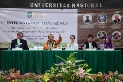 1st International Conference dalam perayaan Dies Natalis UNAS ke 70 Tahun dengan Tema  Religion, Law, Nature and Culture in Achieving Sustainable Development