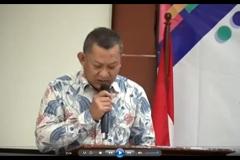 Sambutan dan Pembukaan oleh Wakil Rektor Bidang Akademik, Mahasiswa, dan Alumni Unas, Dr. Suryono Efendi, S.E., M.M.