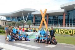 saat tiba dibandara Riau