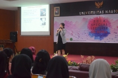 Professor Department of Political Science and International Relations Korea University Joo-Youn JUNG saat memaparkan materi