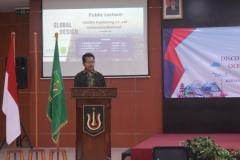 Dekan Fakultas Bahasa dan Sastra Drs Somadi, M.Pd dalam sambutannya
