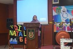 Sambutan oleh Wakil Dekan FEB Dr. Sufyati H.S, S.E., M.M