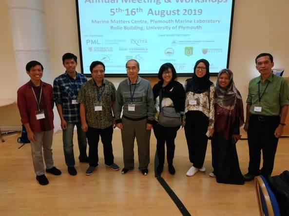 Perwakilan CSERM-UNAS  dalam acara Annual Progress Meeting GCRF Blue Communities di Plymouth Marine Laboratory, Plymouth, UK. 05 – 16 Agustus 2019.