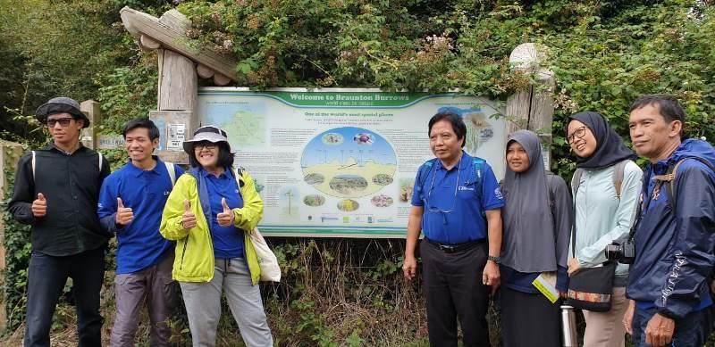 Perwakilan CSERM-UNAS pada kegiatan field tour yang juga serangkaian kegiatan Annual Progress Meeting GCRF Blue Communities