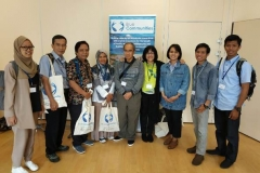Perwakilan CSERM-UNAS  dalam acara Annual Progress Meeting GCRF Blue Communities di Plymouth Marine Laboratory, Plymouth, UK. 05 – 16 Agustus 2019. berfoto bersama