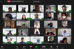 Para peserta dalam kegiatan Australia Update 2021 secara virtual.