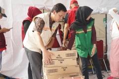 Bantuan untuk para korban dikumpulkan untuk nantinya diberikan kepada para korban