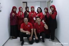 Para dosen di lingkungan fikes saat kegiatan Pelatihan Bantuan Hidup Dasar Mahasiswa Perawat Gelombang 2 di ruang 603 (30/1)