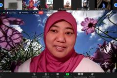 """Salah satu peserta saat mengikuti Kajian jum'at #12 bertajuk diskusi dan bedah buku """"Muslim Environmentalism"""" pada Jumat, (18/9) di Jakarta melalui aplikasi zoom meeting"""