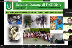Penjelasan tentang proses pembelajaran di fakultas biologi yang disampaikan oleh Dekan Fakultas Biologi Dr. Tatang Mitra Setia, M.Si.
