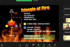Saat pelatihan Fire Risk Assessment berlangsung secara daring pada 19 Juni 2021