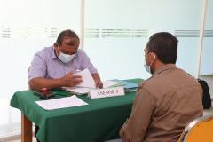 Proses uji kompetensi para peserta oleh asesor dalam kegiatan Uji Kompetensi Ahli Perawatan Bangunan Gedung pada Sabtu 12 Juni 2021 di Ruang Seminar Selasar Lantai 3 Universitas Nasional