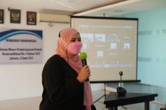 Muhani, S.E., M.Si.M., pada kegiatan BPM-UNAS dalam pembahasan dan workshop Sinkronisasi Sistem Monev Pembelajaran Terkait Permendikbud No. 5 Tahun 2020 pada hari Jumat, 18 Juni 2021