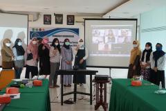 Foto bersama kegiatan BPM-UNAS dalam pembahasan dan workshop Sinkronisasi Sistem Monev Pembelajaran Terkait Permendikbud No. 5 Tahun 2020 pada hari Jumat, 18 Juni 2021