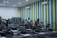 Kegiatan Review Video Pembelajaran dan Pembahasan Teknik yang diselenggarakan oleh Badan Penjaminan Mutu UNAS pada hari Jumat, 9April 2021