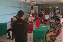 Saat kegiatan Uji Kompetensi Ahli Perawatan Bangunan Gedung berlangsung pada Sabtu 12 Desember 2020 di Ruang Seminar Selasar Lantai 3 Universitas Nasional