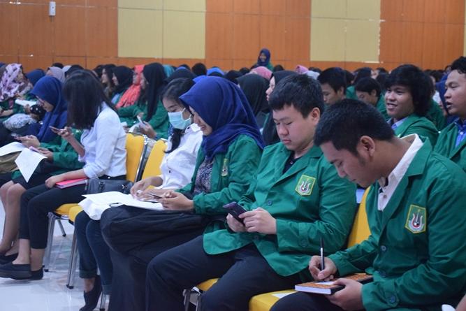 Suasana Aula Universitas Nasional saat Character Building 2