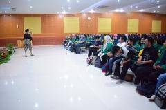 Suasana Aula Universitas Nasional saat Character Building 10