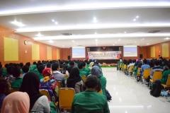 Suasana Aula Universitas Nasional saat Character Building 8