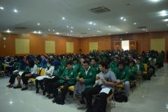 Suasana Aula Universitas Nasional saat Character Building
