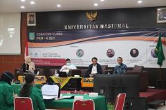 Kegiatan Coaching Clinic PKM yang diselenggarakan UPT Inkubator Wirausaha Mandiri UNAS pada Jumat, 05 Maret 2021