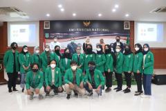 Pembicara Peserta Kegiatan Coaching Clinic PKM yang diselenggarakan UPT Inkubator Wirausaha Mandiri UNAS pada Jumat, 05 Maret 2021