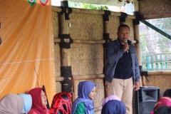Sambutan oleh sekretaris prodi Ilmu komunikasi UNAS Nursatyo, S.Sos., M.Si
