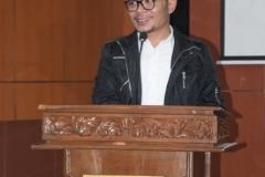 Menteri Ketenagakerjaan Muhammad Hanif Dhakhiri S.Ag., M.Si. dalam sambutan dan paparan materinya mengenai Ekonomi Kreatif dalam acara Dies Natalis fakultas Ekonomi