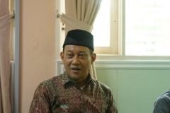ketua lembaga PLH dan SDA MUI, Dr. Hayu Prabowo sedang memberikan sambutannya, di Ruang 108 Blok 1 UNAS, Jumat (03-5) (2)