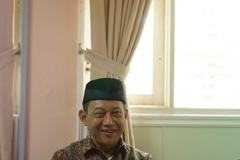 ketua lembaga PLH dan SDA MUI, Dr. Hayu Prabowo sedang memberikan sambutannya, di Ruang 108 Blok 1 UNAS, Jumat (03-5)