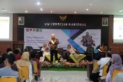 Ketua KPU RI Arief Budiman saat memberikan materi di depan mahasiswa (4)
