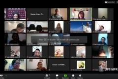"""Para peserta diskusi online program studi Ilmu Politik Unas mengenai """"Kebijakan Agraria dan Tata Ruang dalam RUU Cipta Kerja"""""""