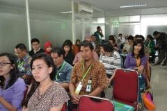 Mahasiswa yang hadir pada acara diskusi