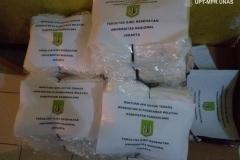 Bantuan donasi  yang diberikan oleh fakultas ilmu kesehatan Universitas Nasional pada tahap 1 yaitu Hazmat 80 buah, Faceshield 70 buah, hand sanitizer 10 derijen x @5 liter
