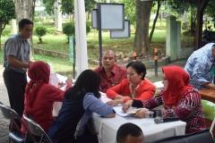 para calon pendonor yang melakukan registrasi