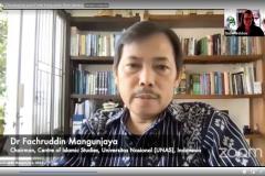 """Dr. Fachruddin Mangunjaya, M.Si., sebagai narasumber dalam webinar internasional dengan tema """"Developing your Faith Long-term Plan: Media & Outreach"""" yang diselenggarakan oleh FaithInvest pada hari Selasa, 18 Mei 2021"""