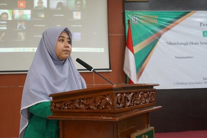 Penyampaian visi dan misi oleh Ketua UEC masa bakti 2021-2022