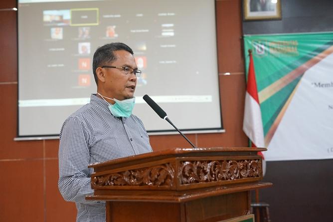 Sambutan oleh Direktur Inkubator Wirausaha Mandiri Unas, dan Penanggung Jawab UEC, Drs. Suadi Sapta Putera, M.Si., M.Si. M