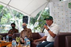 """Saat acara talkshow """"Potensi Tersembunyi Edu Park UNAS"""" berlangsung di Kampus UNAS Pejaten pada Sabtu, 5 Juni 2021"""