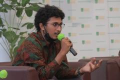 """Pengurus Himpunan Mahasiswa Biologi UNAS Muhammad Islah Ramadhan dalam acara talkshow """"Potensi Tersembunyi Edu Park UNAS"""" berlangsung di Kampus UNAS Pejaten pada Sabtu, 5 Juni 2021"""
