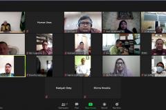 """Saat kegiatan meeting virtual """"Audiensi dan Silaturahmi"""" berlangsung di Jakarta, Kamis, (28/5)."""