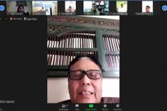 """Wakil Rektor Bidang Administrasi Umum, Keuangan, dan SDM Prof. Dr. Drs. Eko Sugiyanto, M.Si. dalam kegiatan meeting virtual """"Audiensi dan Silaturahmi"""" di Jakarta, Kamis, (28/5)."""