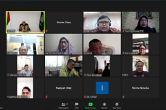 "Meeting virtual ""Audiensi dan Silaturahmi"" di Jakarta, Kamis, (28/5)."