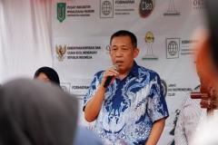 Wakil Rektor Bidang Kemahasiswaan Dr. Drs. Zainul Djumadin, M.Si saat memberikan sambutan