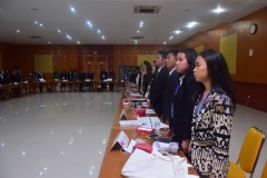 Saat Menyanyikan Lagu Indonesia Nasional