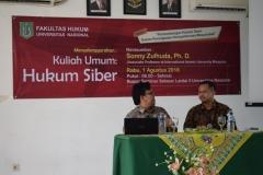Fakultas Hukum Adakan Kuliah Umum Dengan Tema Hukum Siber (1)
