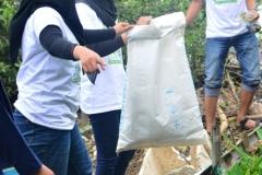 Saat mengambil sampah di hutan mangrove 4