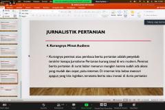 Pemaparan materi oleh Narasumber yang juga Kepala Laboratorium UNAS TV Asep Rakhmat Iskandar, S.H., M.H. dalam  acara Webinar Advokasi dan Jurnalistik pada Rabu, 13 Oktober 2021 melalui zoom meeting