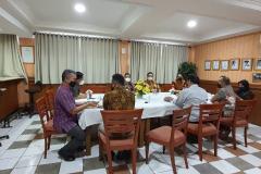 Saat ramah tamah pimpinan fakultas dan prodi dengan delegasi dari IVENDO Jumat 25 Juni 2021