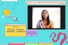 Putri Pariwisata Sulawesi Selatan 2020 Felicia Febiola Abrianti saat memaparkan presentasinya dalam kegiatan Virtual Travel Edition The Paradise Of Culture 'Tana Toraja' pada Sabtu 09 Januari 2021